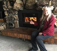 Satisfied Customer Joanne with her new Fireplace Insert